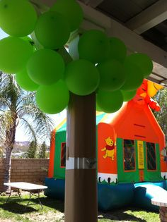 jungle trees for safari birthday party