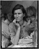 Dorothea Lange's iconic photo of the Great Depression. I just finished reading The Grapes of Wrath.  I didn't expect it to be a book that I couldn't put down, but it was.  This site has some interesting paths to follow.