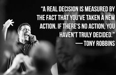 if theres no action Tony Robbins Picture Quote