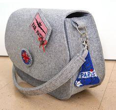 Tolle Tasche aus Filz genäht!