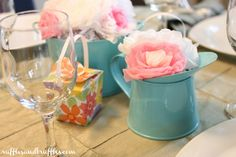 Kraft paper place mats #DIY party decor with materials from the dollar store!