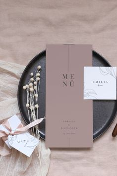 Anticipation is the greatest joy, especially when it comes to appetite. Decorate your wedding tables with wonderful menu cards, which give a hint of the delicacies of the feast… Wedding Invitation Design, Wedding Stationary, Menu Design, Branding Design, Wedding Menu Cards, Wedding Tables, Stationery Design, Logo Design Inspiration, Wedding Designs