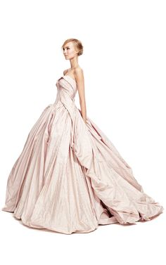 pale pink Ball gown dress with amazing draping  Zac Posen Spring 2014 Feel like a true princess with this dress