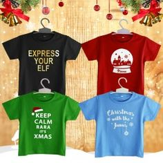 Personalized Christmas T-Shirt - Typography