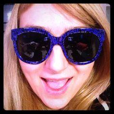 Stella McCartney blue/black sunglasses Oversized Stella McCartney blue/black sunglasses.  So much fun. Very flattering. Stella McCartney Accessories Sunglasses
