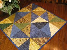 Table Runner Quilted Table Cloth Table Topper by DollPatchworks, $34.00