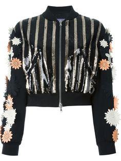 Emanuel Ungaro floral appliqué sequin jacket