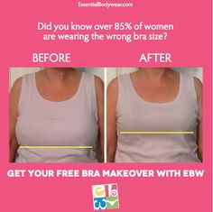 Wow! The power of a professional bra makeover is unbelievable. You will look and feel amazing in Essential Bodywear.
