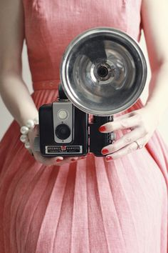 vintage camera - i had this one- now it is just a few pieces after falling from a high shelf!   Boo hoo- Tina
