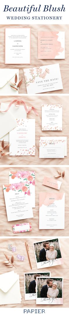 Discover the perfect wedding stationery for your special day. This blush stationary is such a beautiful colour for the summer. Blush Wedding Stationery, Purple Wedding Invitations, Beautiful Wedding Invitations, Unique Wedding Favors, Wedding Stationary, Wedding Ideas, Wedding Inspiration, Wedding Reception Flowers, Wedding Colors