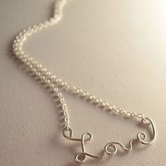 Love' Silver Necklace