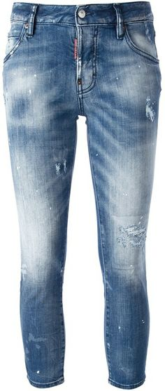 DSquared cropped faded jean on shopstyle.com