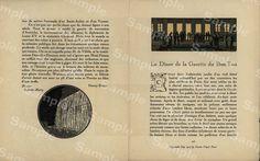 GAZETTE DU bON TON Original hand colored 2 page by Printvilla4you