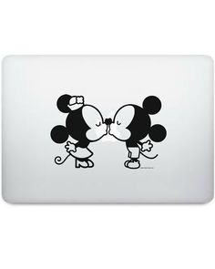Disney Baby Mickey Mouse e Minnie Kiss sagoma vinile Macbook Decal
