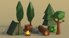 Low Poly Forest Pack - Blender Download by Jagredom