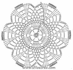 Piastrelle Dolly a uncinetto   Sfilo e Creo: tutorial e schemi Crochet Doily Diagram, Crochet Motif Patterns, Crochet Squares, Crochet Designs, Crochet Doilies, Crochet Yarn, Crochet Flowers, Crochet Stitches, Crochet Hooks