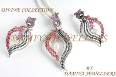 A ravishingly gorgious pendant set in Synthetic Ruby & Cubic zarconia! In 925 silver with rhodium plating!                              https://www.facebook.com/pages/Damiya-Jewellers/289361234463272?ref=hl
