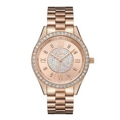JBW Women's J6303C Mondrian 0.16 ctw 18K Rose Gold-Plated Stainless Steel Diamond Watch