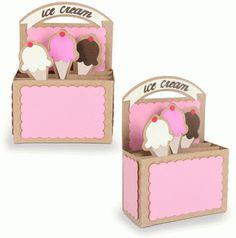 Silhouette Design Store - View Design #81473: rectangle box card-ice cream