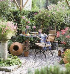 mediterrane gartengestaltung ton gefäße gartendeko | blumen, Garten und bauen