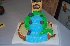 Survivor Cake. For a Survivor tv show themed birthday party