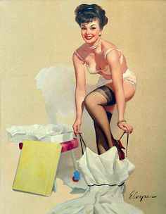 Stepping High - Gil Elvgren 1964