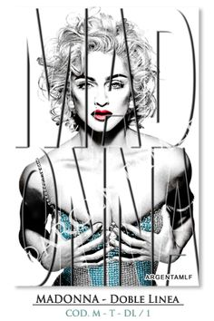 """Art SHOP"": Madonna - Typography - Doble Linea... ౿౿౿౿★"