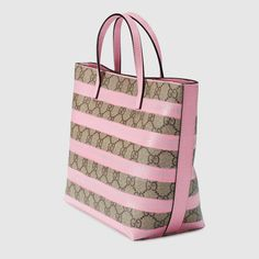 b926dec8a78 Gucci Children - Children s GG striped tote - 410812KXE3N9760 Ready To  Wear, Stripes, Handbags