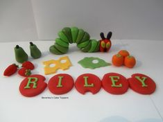 Sugar paste Hungry caterpiller. £15.99 incl p&p