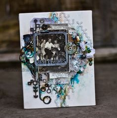 Sunshine Studio: Blue Fern Studios canvas+tutorial, and two cards