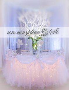 Artículos similares a Tulle Tutu Table Skirt with Satin Swag en Etsy Tulle Table Skirt, Tutu Table, Table Skirts, 60 Inch Round Table, Rectangle Table, Tutu En Tulle, Wedding Decorations, Table Decorations, Wedding Ideas