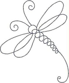 Diseño de libélula línea máquina del bordado por sophieslittlebits