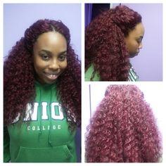 crochet braids,to make an appointment please visit www.styleseat.com/belindarose…