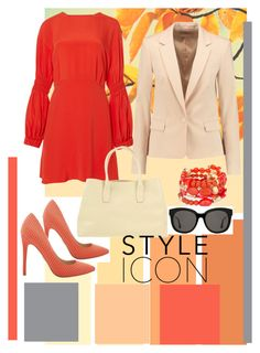 """""""orange"""" by clarerizzo on Polyvore featuring TIBI, Michael Kors, Franco Pugi, Chico's and Gentle Monster"""