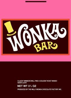 The wrapper used for our Wonka Bars.