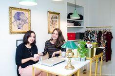 Micaela e Ylenia di Moi.to illustrazioni arte design abbigliamento