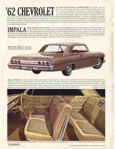 1962 Chevrolet sales literature featuring the Impala.
