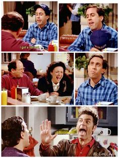 (The Barber) - JERRY: I got a haircut. ELAINE: Hahaha...You look like you're five years old!.