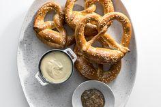 Traditional German soft pretzels recipe