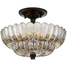 Shop for Quoizel Whitecap Mottled Cocoa/Amber Glass Semi-flush Pendant. Get free delivery On EVERYTHING* Overstock - Your Online Ceiling Lighting Store! Ceiling Light Shades, Semi Flush Ceiling Lights, Flush Mount Lighting, Flush Mount Ceiling, Ceiling Light Fixtures, Lighting Shades, Flush Mount Chandelier, Bronze Chandelier, Bernstein
