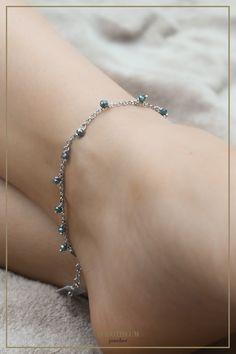 ankle bracelet, jewellery, schmuck, silver, silber, summer, sommer, strand, urlaub, accessoires, fashion, beach Anklet, Delicate, Diamond, Beach, Bracelets, Silver, Jewelry, Fashion, Stones