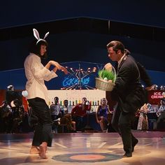 "One of my favorite dance scenes.Pulp Fiction Dance The ""famous dance Vincent Vega (John Travolta) and Mia Wallace (Uma Thurman) do the twist at Jack Rabbit Slim's.John can dance! Series Movies, Film Movie, Movies And Tv Shows, John Travolta, Mia Wallace, The Rocky Horror Picture Show, Movie Shots, Movie Dates, Uma Thurman"