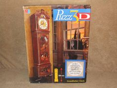 Puzz 3D Grandfather Clock - 777 Pieces - Complete With Working Clock - Boxed