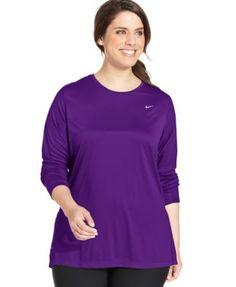 Nike Plus Size Long-Sleeve Dri-FIT Running Top   macys.com