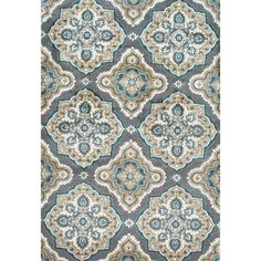 nuLOOM Treliis Floral Fancy Grey Rug (7'10 x 10'10) | Overstock.com Shopping - The Best Deals on 7x9 - 10x14 Rugs