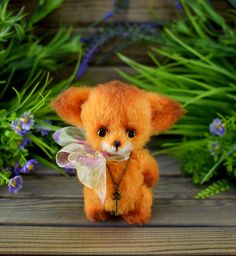 Little Fox, Dear Friend, Crochet Hooks, Crochet Patterns, Stitch, Miniature, Handmade, Etsy, Animales