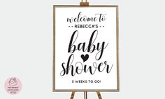 Baby shower sign in printable, Baby shower signage, Boho baby shower signs, Black and white baby shower decor, Editable baby shower sign by instantprintableshop on Etsy https://www.etsy.com/listing/560289727/baby-shower-sign-in-printable-baby