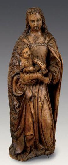 Bourgogne, début du XVIe siècle. Noyer.  Haut.: 108 cm