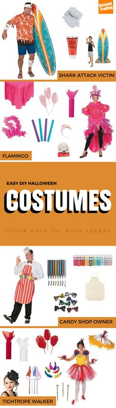 Making your own costume for Halloween should be just as fun as wearing it, and that's definitely true with these great (and EASY) DIY Halloween Costumes for adults. From a Shark Attack Victim costume to a Flamingo Costume to a Jelly Bean Costume, everything you need to pull off a great Adult DIY Halloween costume is right here. Why should kids get all the fun?