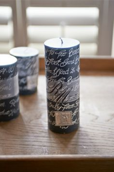 Beach Poem Candle grey 18x7  - Rivièra Maison - Summer Collection - Kaars / Candle